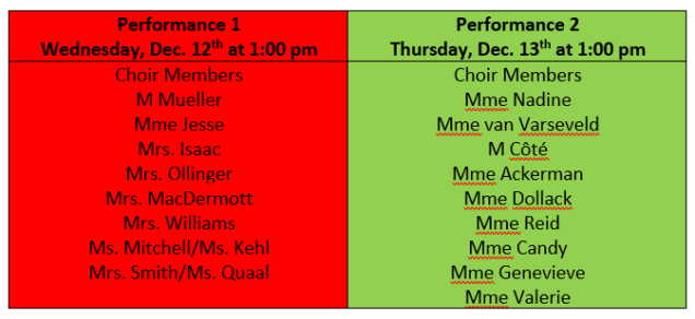 Winter Concert Classes